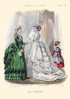 Victorian wedding, The Englishwoman's Domestic Magazine Fashions, 1869
