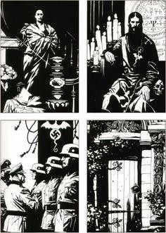 Graphic Design Illustration, Illustration Art, Illustrations, Mike Mignola Art, Black And White Comics, Pulp, Arte Horror, Matte Painting, Amazing Drawings