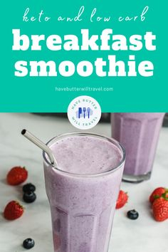 This keto breakfast smoothie recipe is the perfect on the go keto breakfast. Easy to prepare and ready in less than 5 minutes, the perfect keto breakfast. Quick Keto Breakfast, Breakfast Smoothie Recipes, Perfect Breakfast, Ketogenic Recipes, Low Carb Recipes, Keto Chocolate Fat Bomb, Keto Shakes, Keto Avocado, Low Carbohydrate Diet