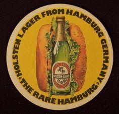 Holsten Lager Beer Coaster Mat Paper Drink Hamburg Germany