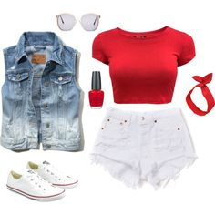 """Canada Day Outfit #1"" by leopardcouture8 on Polyvore"