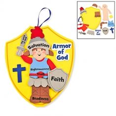 Teaching children the virtues of god is easy with this Armor of God Kids Craft Kit. 1 Dozen Armor of God Kids Craft Kit. Self Adhesive Foam. - 1 Dozen Armor of God Kids Craft Kit. Sunday School Kids, Sunday School Activities, Sunday School Lessons, Sunday School Crafts, Activities For Kids, Bible Activities, Bible Story Crafts, Bible School Crafts, Bible Crafts For Kids