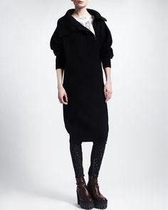 Stella McCartney Sweater Coat & Wallpaper-Print Tee - Bergdorf Goodman