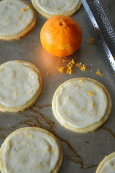 Clementine Butter Cookies with Grand Marnier Glaze | mountainmamacooks.com