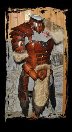 barbarian female leather armor by ~Lagueuse on deviantART