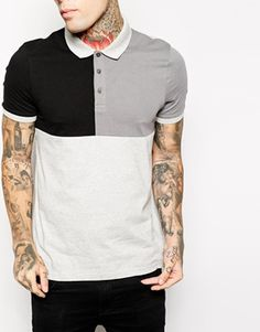 Enlarge ASOS Polo Shirt With Cut & Sew