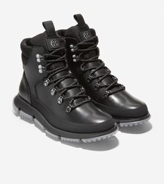 Men's 4.ZERØGRAND Hiker Boot in Black-Black Reflective | Cole Haan