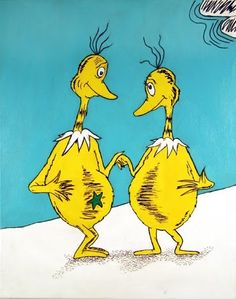 Now, the Star-Belly Sneetches  Had bellies with stars.  The Plain-Belly Sneetches  Had none upon thars.