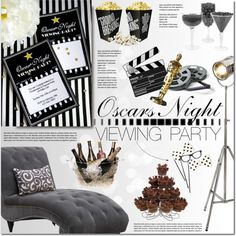 Academy awards by purpleagony on Polyvore featuring interior, interiors, interior design, thuis, home decor, interior decorating, Kate Spade, Monday, DIY and Home