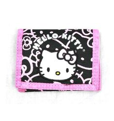 Hello Kitty Tri Fold Pink Glittering Wallet   #gamergirls