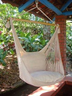 Blue Sky Outdoor Hanging Hammock Chair With Cushions And Straps