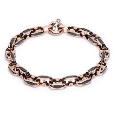 Baraka Magma 18 Karat #RoseGold, Black Ceramic and #Diamond #Bracelet