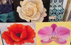 "102 Likes, 5 Comments - Angela Anderson (@thankfulart) on Instagram: ""Large flower series acrylic painting tutorials on #YouTube. LIVE #stepbystep free #acryliconcanvas…"""