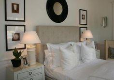 Suzie: Phoebe Howard - Crisp, clean white cream monochromatic bedroom design!