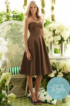 Bridesmaids Dress idea: Simple Sweetheart | Pleated A-Line Skirt #bridesmaids #wedding