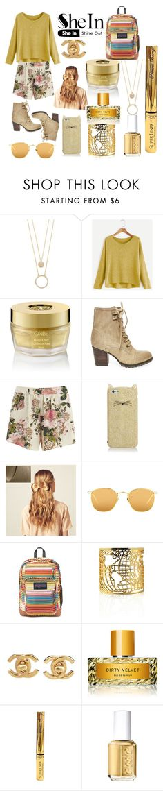 """""""she in pastel colors"""" by sirattkaur ❤ liked on Polyvore featuring Kate Spade, Oribe, Steve Madden, VILA, Hershesons, Linda Farrow, JanSport, Chanel, Vilhelm Parfumerie and L'Oréal Paris"""