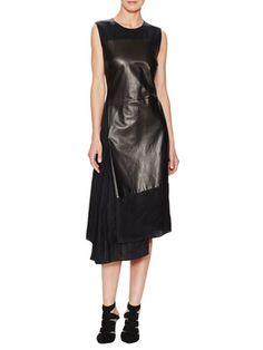 Leather Twill Asymmetrical Dress from Dress Like a Fashion Editor on Gilt