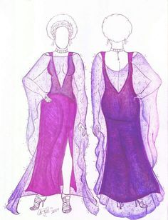 Purple dress #sketch #fashion #fashiondrawing #purple