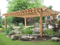 Big Kahuna Cedar Do It Yourself Pergola Kit sizes 12x12 - 20x20 with instructions and hardware included