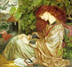 """Dante Gabriel Rossetti, Jane Burden Morris as """"La Pia de Tolomei"""""""