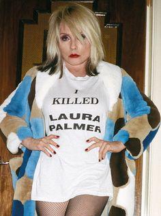 Debbie Harry in fishnet tights
