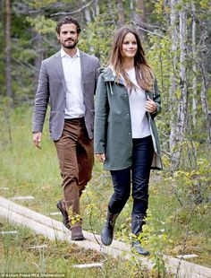 Upon arrival at the nature reserve Sofia and Carl Philip told Swedish tabloid Expressen: 'We are so happy to be here'