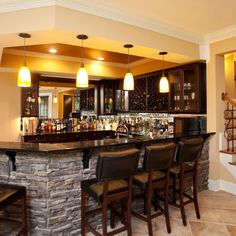 Finished Basement Bar Ideas you'd never leave the house if you had these manly home bars (33