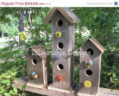40% Off Easter Sale.....#Barnwood Birdhouses Rustic Birdhouses by TallahatchieDesigns