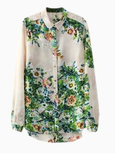 Vintage Floral Shirt   Choies...if only this wasn't polyester. And the collar isn't my taste. Apart from that, love!