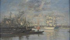 Eugène Boudin - Bordeaux, le voilier blanc, Effet du soir
