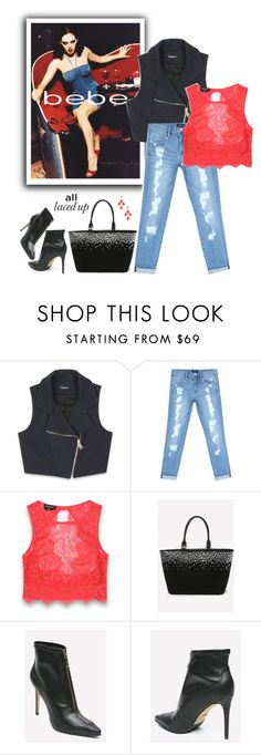 """""""All Laced Up for Spring with bebe: Contest Entry 2"""" by majezy ❤ liked on Polyvore featuring Bebe"""