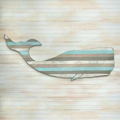 Un simple sophistiquée solution couleur qui ajoute de la profondeur à votre design de chambre. Ce multicolores, baleine rayée est créé à partir de ma palette de couleurs de 27 couleurs. Sélectionnez toutes les 4-5 couleurs pour créer une baleine qui est unique à votre décor de chambre. Différentes combinaisons de couleurs crée une prise moderne sur ce look classique de baleines.  Taille : 41 W x 19 H x. 75 D  Oeuvres dans de nombreux endroits... Parfait pour la maison de plage, la cuisine…