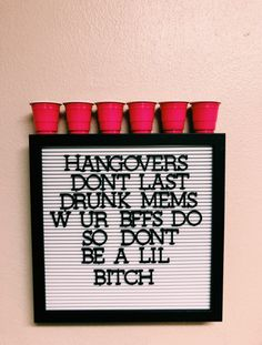 p i n t e r e s t : ✰ casey elizabeth ✰ party decorations deko drinks getränke ideas ideen recipes schnelle party party drinks College House, College Apartments, College Girl Apartment, 1st Apartment, Beer Pong Tables, Babe Cave, Girl Cave, My New Room, Letter Board