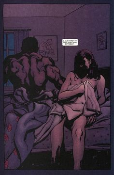 """""""I just want to feel something different."""" Luke Cage & Jessica Jones by Michael Gaydos"""