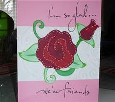 "A simple and easy to create card.  This card measures 4.25"" x 5.5""."