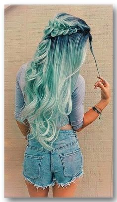 blue ombre hair color trend in trendy hairstyles and colors blue omb.,blue ombre hair color trend in trendy hairstyles and colors blue ombre hair; Cute Hair Colors, Hair Dye Colors, Ombre Hair Color, Cool Hair Color, Blue Ombre, Hair Styles With Color, Brunette Color, Amazing Hair Color, Blonde Color