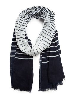 STRIPED COTTON FOULARD