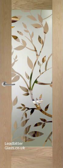 Sandblasted Glass Door Design Interiors 55 Ideas For 2019 Glass Etching Designs, Stained Glass Designs, Wooden Front Doors, Glass Front Door, Glass Closet Doors, Glass Doors, French Door Decor, Window Glass Design, Sliding Door Curtains