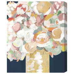 """House of Hampton Lovely Bouquet Painting Print on Wrapped Canvas Size: 36"""" H x 30"""" W x 1.5"""" D"""