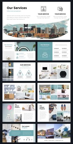 Portal Modern Powerpoint Template by Thrivisualy o. - Portal Modern Powerpoint Template by Thrivisualy o. Layout Design, Design De Configuration, Site Web Design, Graphisches Design, Slide Design, Graphic Design, Design Websites, Stand Design, Booth Design