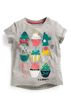 Buy Grey Cupcake Top (3mths-6yrs) from the Next UK online shop