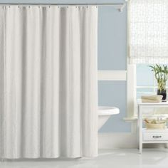Lamont Home Nepal 72-Inch x 72-Inch Shower Curtain in White - BedBathandBeyond.com