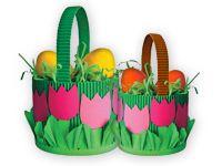 Velikonoční dekorace: Velikonoční dekorace: košík na vajíčka z papíru