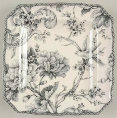 222 Fifth ADELAIDE GREY & WHITE Square Salad Plate 9831737