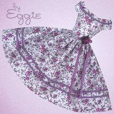 Autumn Aubergine  - Vintage Barbie Doll Dress Reproduction Repro Barbie Clothes