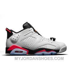7bb323a12c1def Authentic 304401-123 Air Jordan 6 Retro Low White Infrared 23-Black