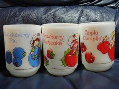Fire King Strawberry Shortcake mugs