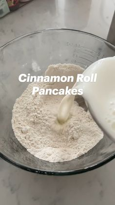 What's For Breakfast, Breakfast Dishes, Breakfast Recipes, Cinnamon Roll Pancakes, Cinnamon Rolls, Brunch Recipes, Sweet Recipes, Delicious Desserts, Yummy Food