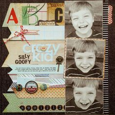 Kelly Goree's Gallery: *Crazy Kid* - Basic Grey - Clippings