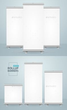 Buy Realistic Detailed Template Blank White Roll Up Banner by mousemd on GraphicRiver. Realistic Detailed Template Blank White Roll Up Banner Stand Mock Up Set Different Types for Design. Roll Up Design, Rollup Banner, Web Banner Design, Banner Stands, Blank White, Fonts, Design Inspiration, Characters, Graphics
